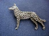 Vintage Brooch - Alsation or German Shepherd Dog (SOLD)
